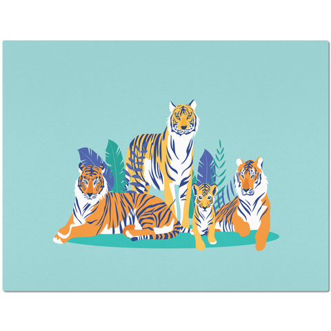 Image of Placemat with Tiger Design