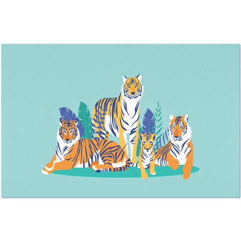 Placemat with Tiger Design