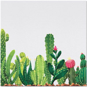 Placemat with Cactus Design