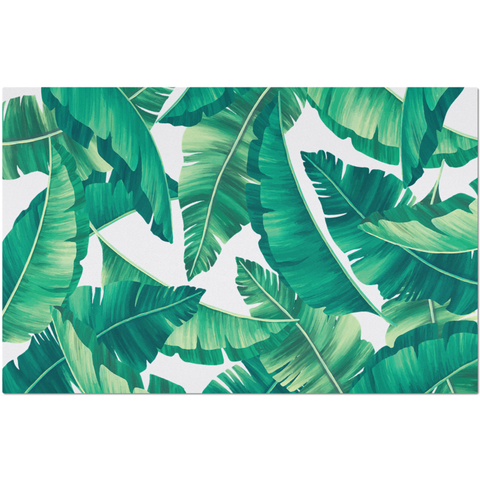 Placemat with Tropical Leaves Design