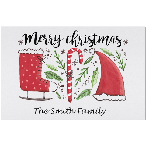 Image of Marry Christmas Placemats You can Personalize