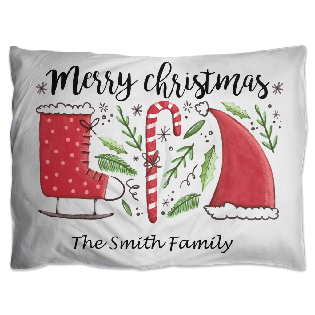 Merry Christmas Pillow Shams - Personalize It!