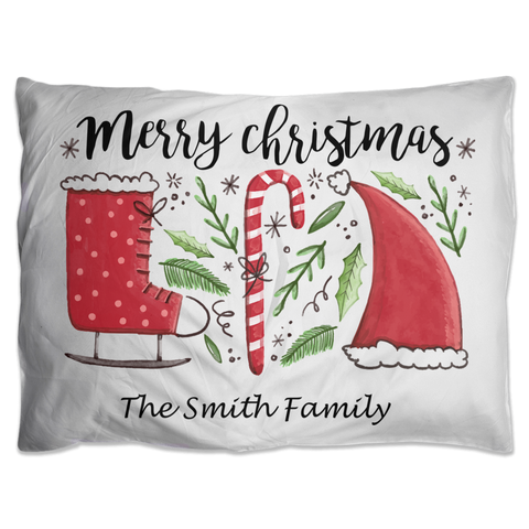 Image of Merry Christmas Pillow Shams - Personalize It!