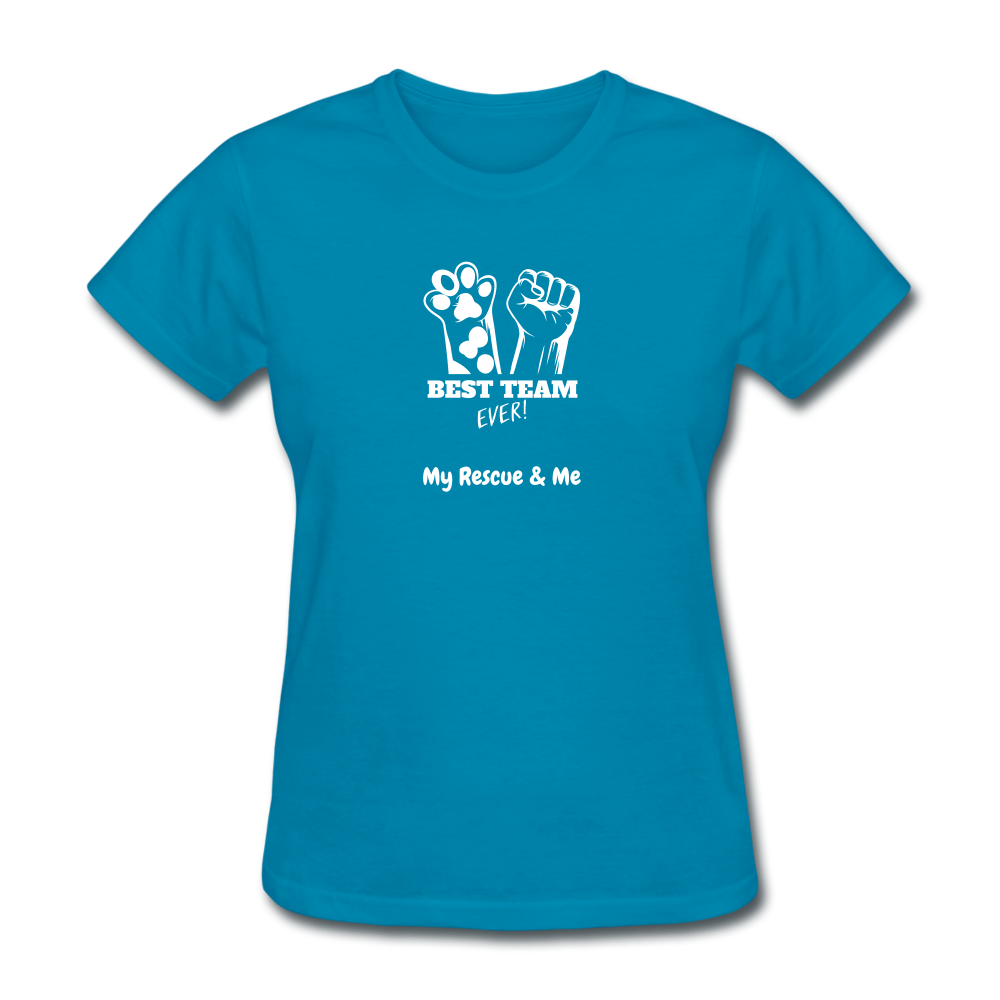 Beast Team Ever - My Rescue and Me - Women's T-Shirt - turquoise