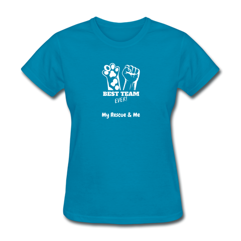 Image of Beast Team Ever - My Rescue and Me - Women's T-Shirt - turquoise