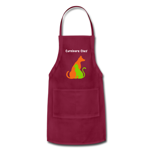 Image of Carnivore Chef Apron - burgundy