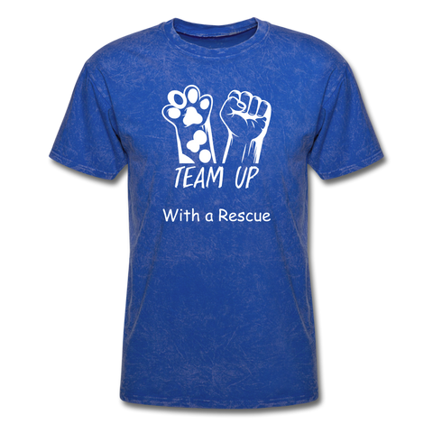 Team Up with a Rescue Men's T-Shirt - mineral royal