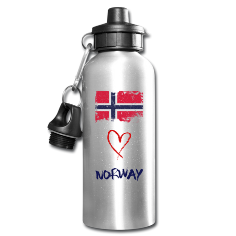 Image of Love Norway Water Bottle - silver
