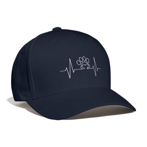 Image of My  Heart beats for Pets Baseball Cap - navy