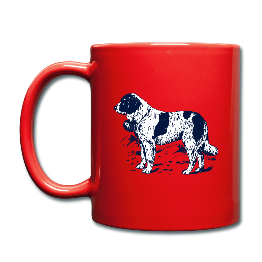 St. Bernard Lovers Coffee Mug - red