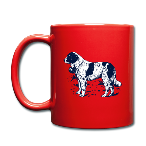 Image of St. Bernard Lovers Coffee Mug - red