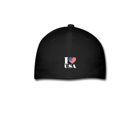 Image of I love USA Baseball Cap - black