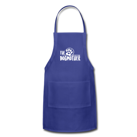 Image of The Dog Mother Apron Adjustable Apron - royal blue