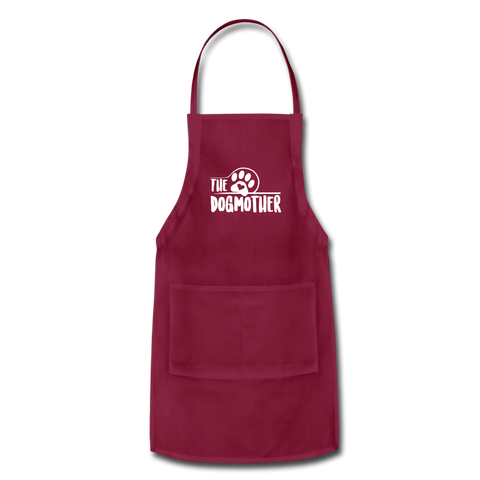 The Dog Mother Apron Adjustable Apron - burgundy