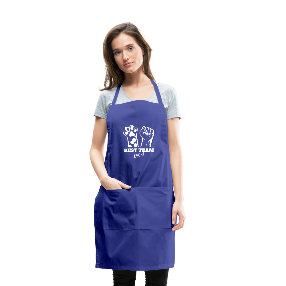 Best Team Ever Adjustable Apron - royal blue
