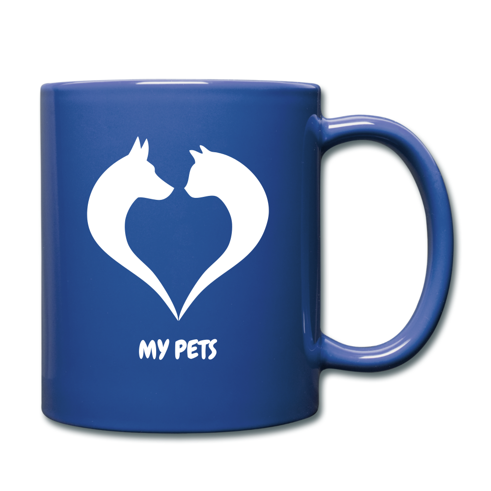 Love My Pets Full Color Mug - royal blue