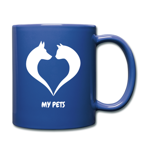 Image of Love My Pets Full Color Mug - royal blue