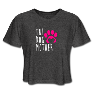 The Dog Mother - Women's Cropped T-Shirt - deep heather