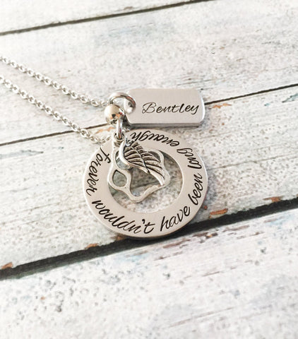 Image of Pet loss - Hand stamped necklace - Pet memorial