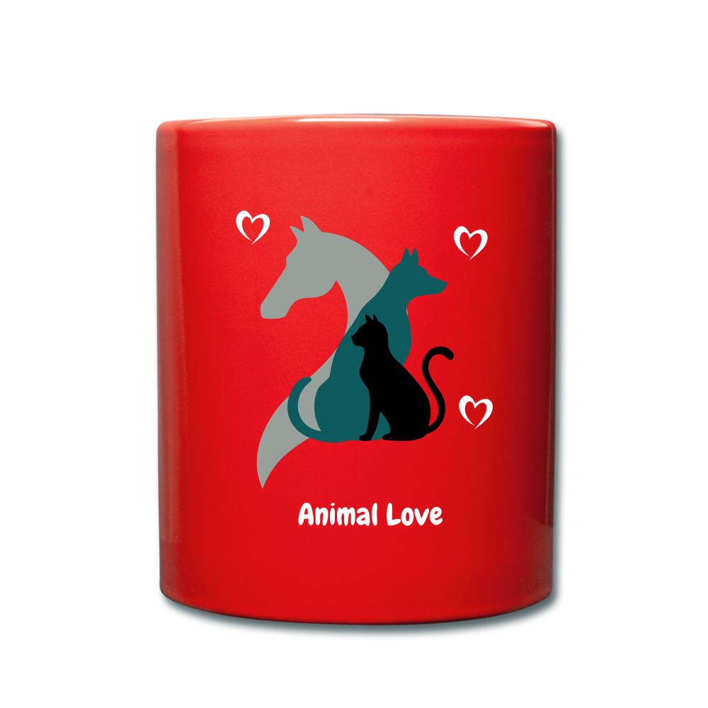 Animal Love - Full Color Mug - red