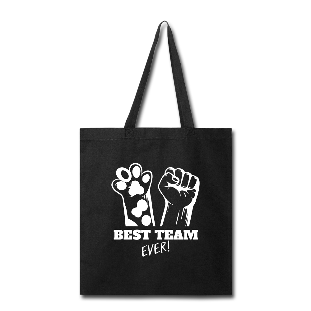 Best Team Ever Tote Bag - black