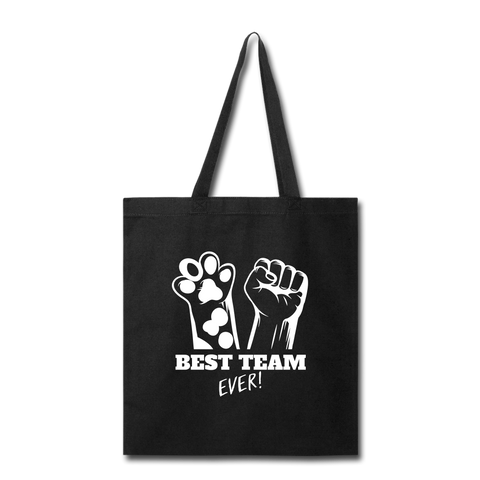 Image of Best Team Ever Tote Bag - black