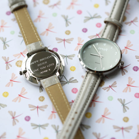 Personalised Anaii Watch In Flint Grey