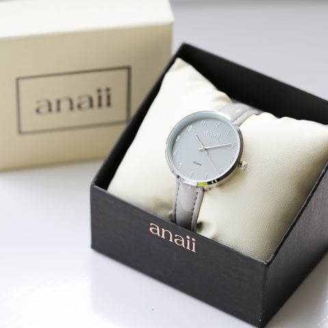 Image of Personalised Anaii Watch In Flint Grey