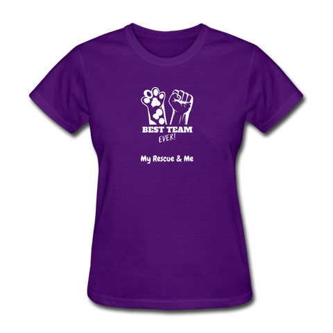 Image of Beast Team Ever - My Rescue and Me - Women's T-Shirt - purple