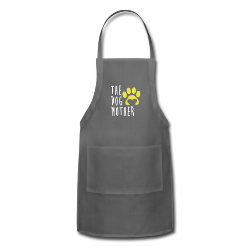 The Dog Mother Apron Adjustable Apron - charcoal