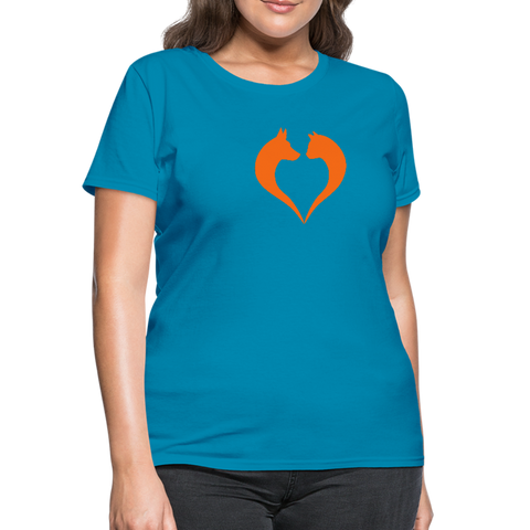 I love dogs and cats Women's T-Shirt - turquoise