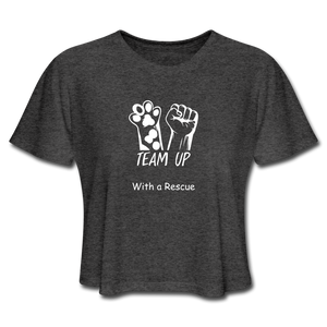 Team Up with a Rescue - Women's Cropped T-Shirt - deep heather