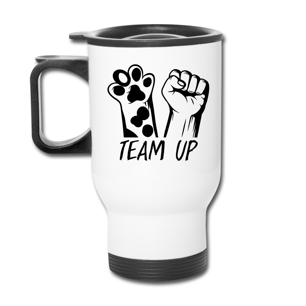 Team Up Travel Mug - white