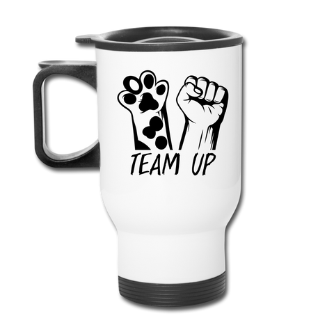 Image of Team Up Travel Mug - white