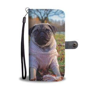 PERSONALIZE this Wallet Case for your Phone with your Favorite Pug Photo