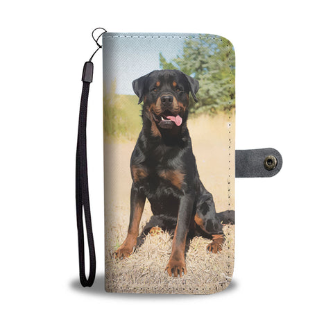 Image of PERSONALIZE this Wallet Case for your Phone with your Favorite Rottweiler Photo