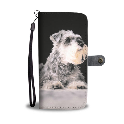 Image of PERSONALIZE this Wallet Case for your Phone with your Favorite Schnauzer Photo