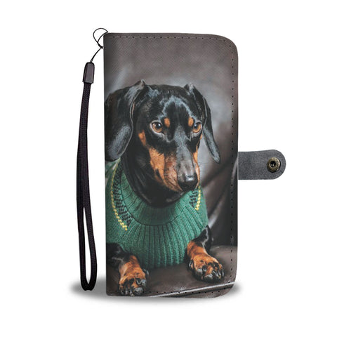 Image of PERSONALIZE this Wallet Case for your Phone with your Favorite Dachshund Photo
