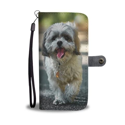 Image of PERSONALIZE this Wallet Case for your Phone with your Favorite Shih Tzu Photo