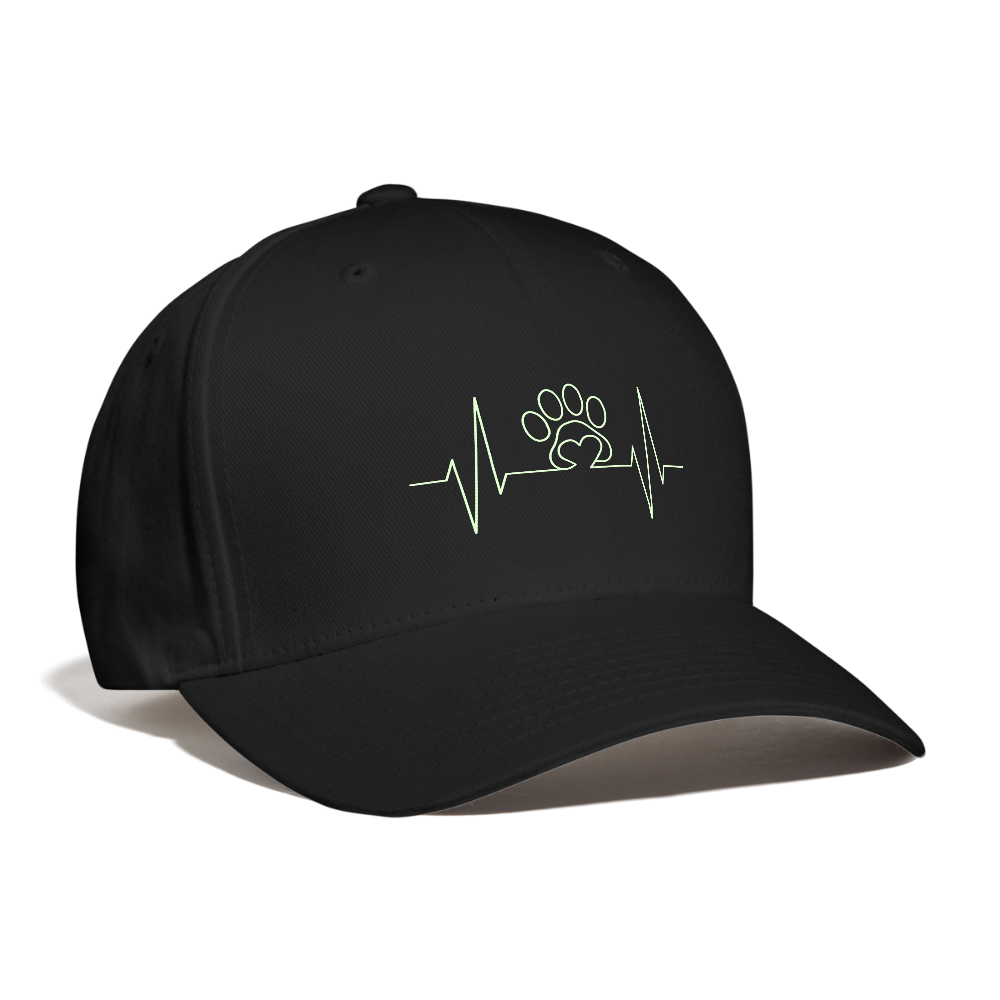 My Heart Beats for Animals Baseball Cap - black