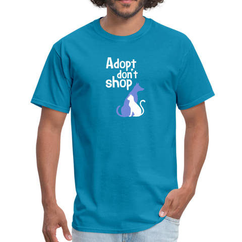 Adopt Don't Shop Men's T-Shirt - turquoise