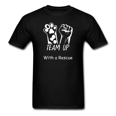 Team Up with a Rescue Men's T-Shirt - black