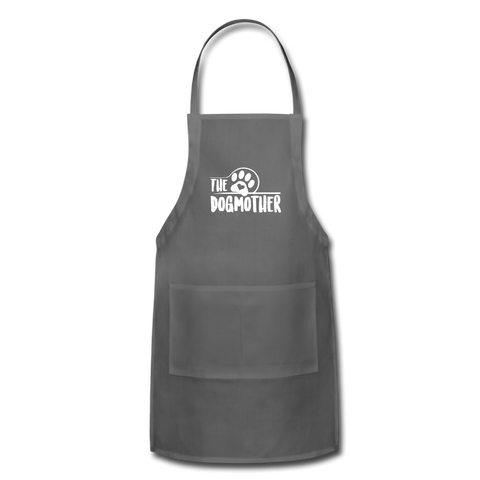 Image of The Dog Mother Apron Adjustable Apron - charcoal