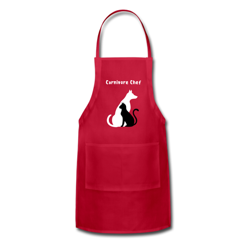 Image of Adjustable Apron - red