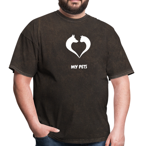 Image of Love my pets - Men's T-Shirt - mineral black