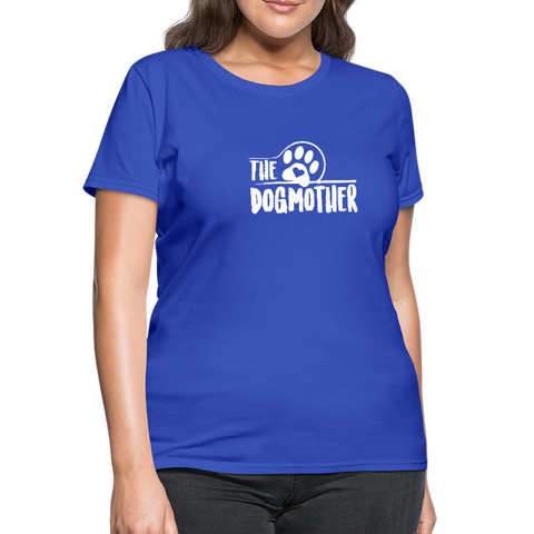 Image of The Dog Mother Women's T-Shirt - royal blue