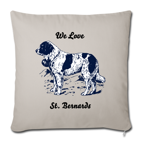"Image of Throw Pillow Cover 18"" x 18"" - light grey"