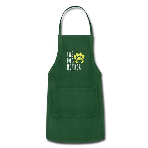 The Dog Mother Apron Adjustable Apron - forest green