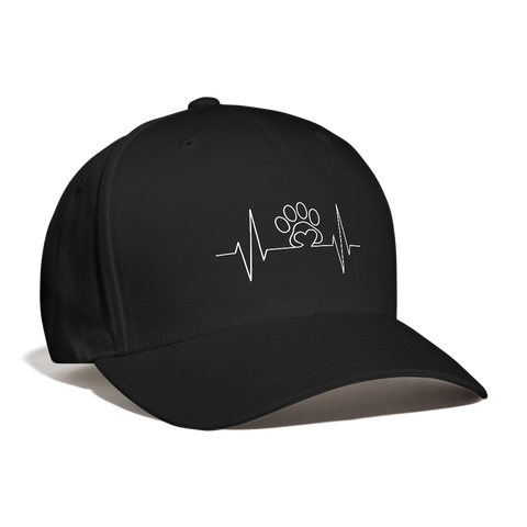 My  Heart beats for Pets Baseball Cap - black