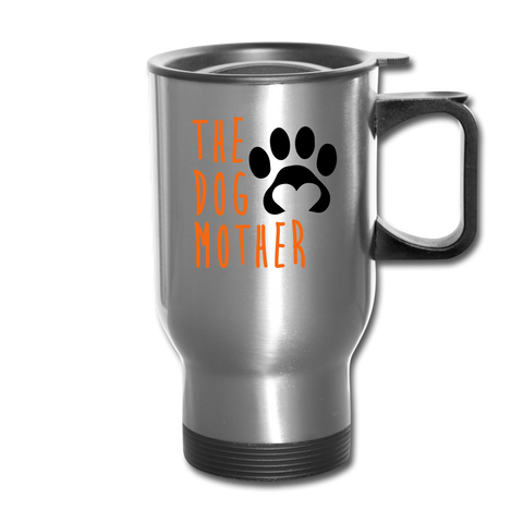Image of The Dog Mother Travel Mug - silver